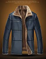 Дубленка мужская,куртка кожаная зимняя с натуральной кожи и овчины.