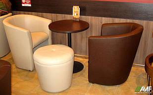 Комплект для ресторану 2 крісла Арабіка + пуф Раунд AMF