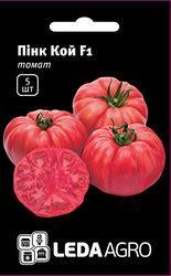 """Семена томата Пинк Кой F1, 5 сем., высокорослого розового, ТМ """"ЛедаАгро"""""""