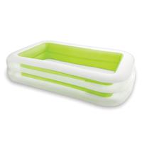 Детский надувной бассейн Intex 56483, зеленый «Морская волна», 262 х 175 х 56 см