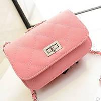 Маленькая женская сумка клатч Светло-розовый