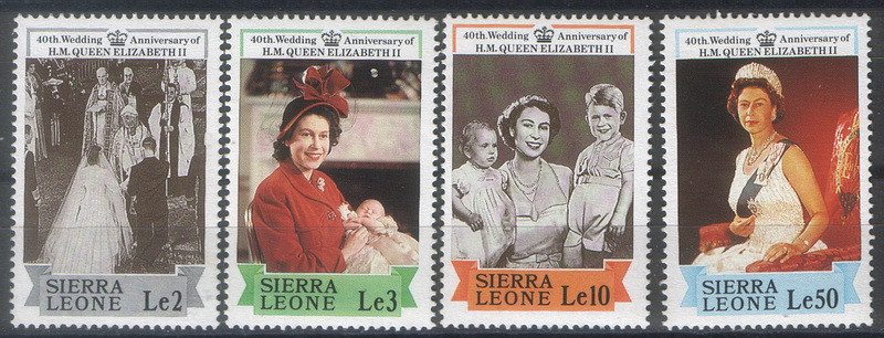 Сьерра Леоне 40-ти летие со дня свадьбы Елизаветы