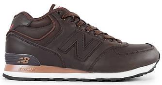 Мужские зимние кроссовки New Balance 574 'Brown' (Нью Баланс) с мехом