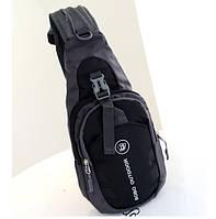 Мужской рюкзак на одно плечо Черный