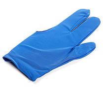Рукавичка більярдна синя KB-0008 в упаковці 10 штука (ціна за 1 штуку) OPP bag