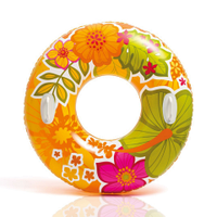 Надувной круг для плавания Intex 58263, оранжевый, 97 см, с держателями для рук