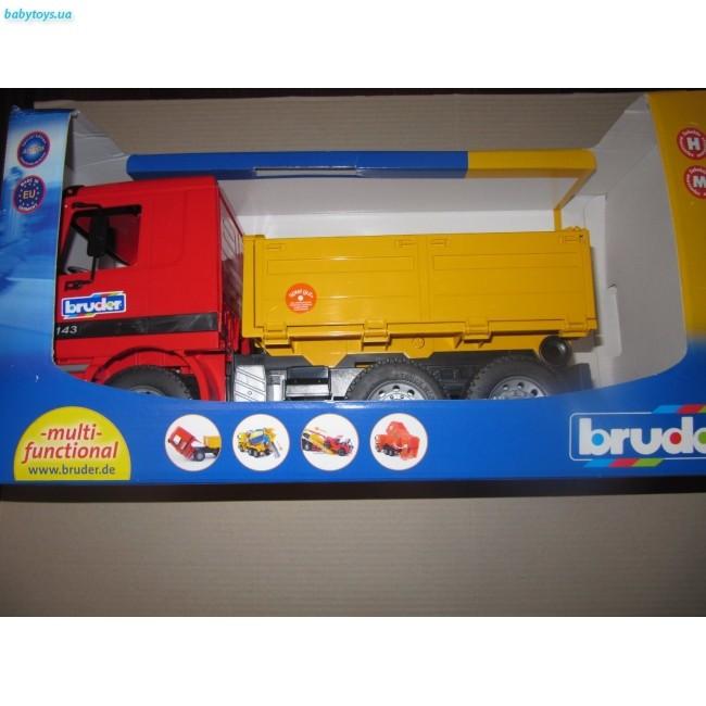 MERCEDES BENZ ACTROS DUMP TRUCK. 1/16 BRUDER 01661