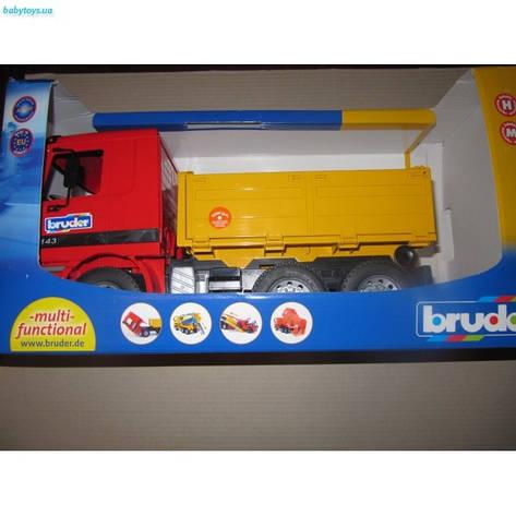 MERCEDES BENZ ACTROS DUMP TRUCK. 1/16 BRUDER 01661  , фото 2