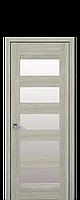 Дверне полотно BRONKS зі склом сатин  колір Дуб сицилія