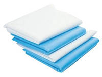 Простынь  одноразовая белая и синяя  размером 210*160