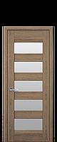 Дверне полотно BRONKS зі склом сатин колір Дуб янтарний