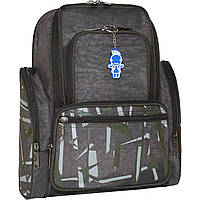 Молодежный черный рюкзак унисекс Bagland Шумахер 16 л  размер 38*25*16 см