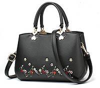 Женская сумочка с вышивкой Черный, фото 1