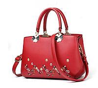 Женская сумочка с вышивкой Красный, фото 1