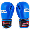 Рукавички боксерські шкіряні на липучці TopTen TT025-10B 10 oz синій
