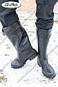 Мужские сапоги черные (Код: С-05 охотник), фото 4