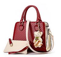 Женская сумка на плече EVA в 3 цветах ! Красный