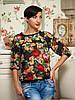 Блуза цветочный принт 48р
