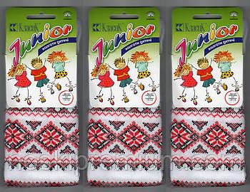 Колготки детские демисезонные х/б с вышиванкой Класик, 14-15 размер, 86-92 см