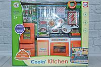 """Мебель """"Кухня"""" для куклы,подсветка,дверцы открываются,посуда,продукты,в коробке, фото 1"""