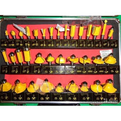 Набор фрез Euro Craft  RS-207   35 штук в кейсе