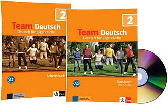 Немецкий язык / Team Deutsch / Kursbuch+Arbeitsbuch+CD. Учебник+Тетрадь (комплект с диском), 2 / Klett