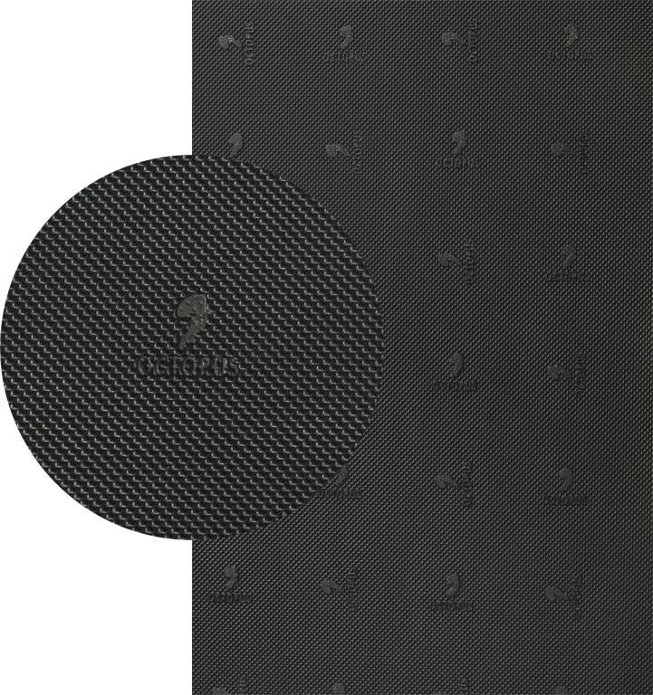 Резина набоечная OCTOPUS (Китай), р. 500*500*6.4 мм, цв. черный
