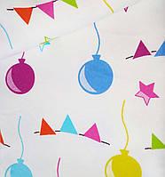 """Фланель """"Цветные шарики"""", ширина 180 см"""