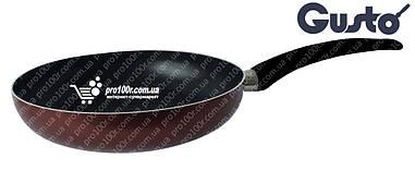 Сковорода 24 см Gusto XYLAN бордовая GT-2100-24/1