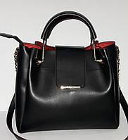 """Женская сумка """"B.Elit"""" с металлическими ручками, черный"""