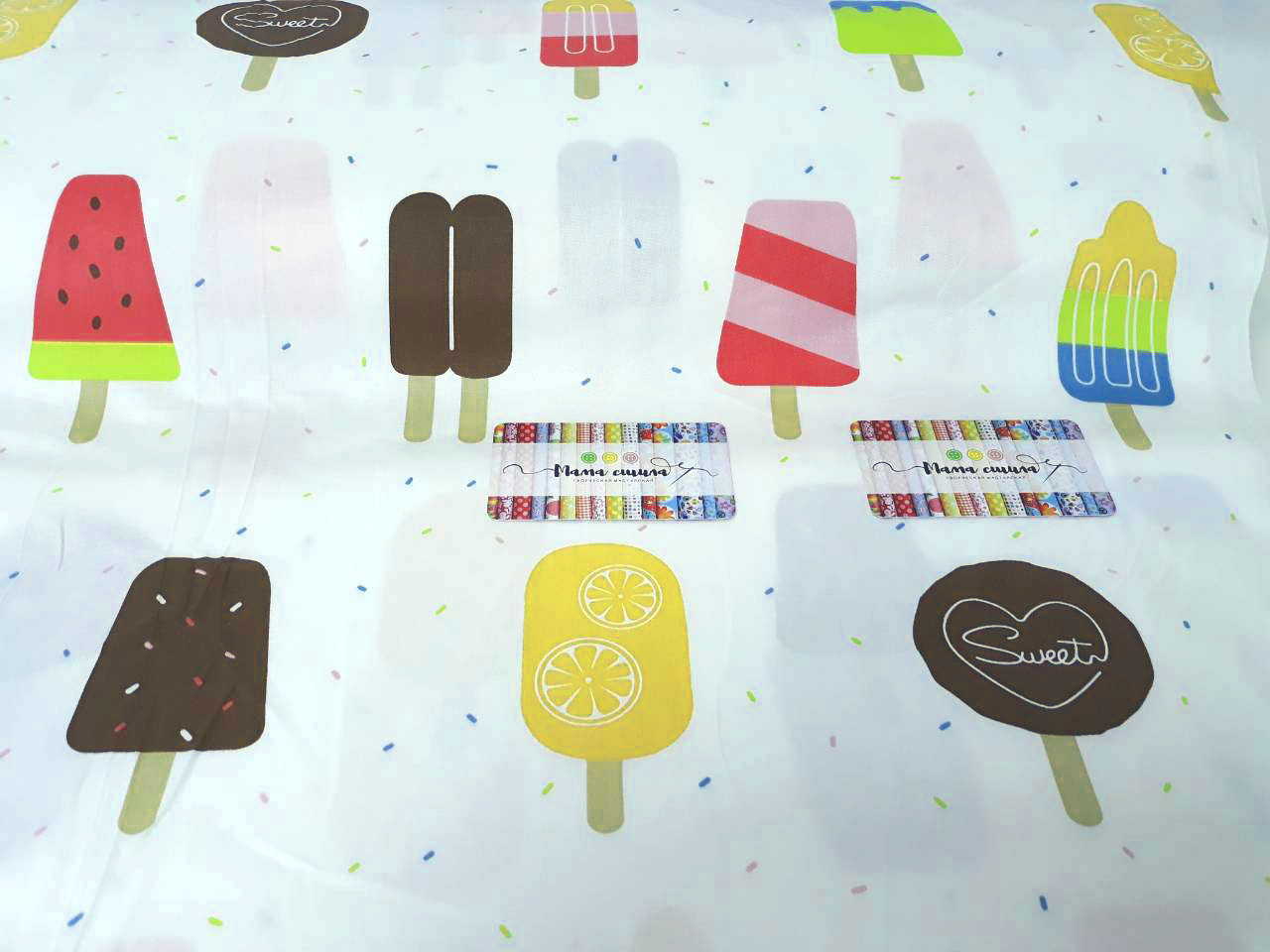 "Сатин ""Мороженое"", ширина 160 см"