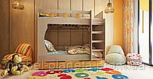 """Двухъярусная кровать для детей """"Марли"""" Лион"""