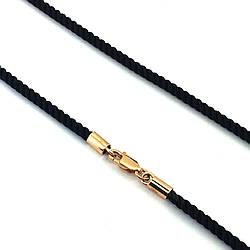 Шелковый шнурок с золотым замком, 50 размер