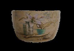 Кашпо овальное горшок для цветов декоративный керамический декоративный