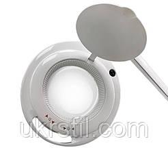 Лампа-лупа 6017H LED-3 (5) с регулировкой яркости, белый холодный и теплый свет 1-12W