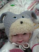 Детские теплые шапочки S123