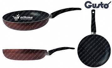 Сковорода 28 см Gusto XYLAN бордовая GT-2100-28/1, фото 2