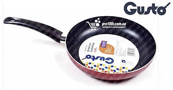 Сковорода 28 см Gusto XYLAN бордовая GT-2100-28/1, фото 3