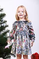Платье детское «Велюровое цветы сакуры».