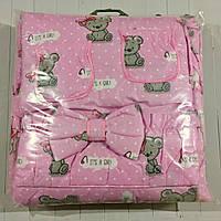 """Детское постельное бельё (8 предметов) """"It's a girl"""" розовое, фото 1"""