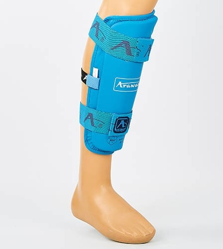 Захист гомілки для єдиноборств PU Araza BO-7268-BL (розмір XS-XL, синій) Replica