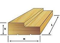 2100*220*35мм Деревянная Лутка Коробка Срощенная