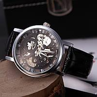 Мужские механические часы Winner Skeleton Black, фото 1