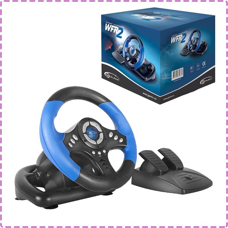 Игровой руль для ПК Gemix WFR-2, руль с педалями для компьютера