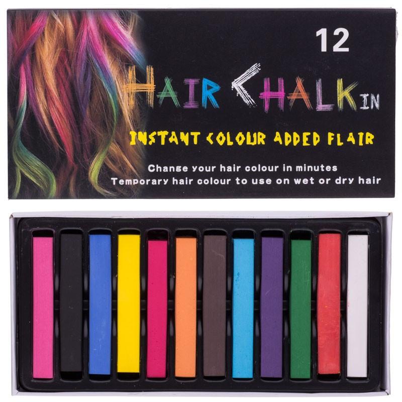 Цветные мелки для волос Hair chalk in 12