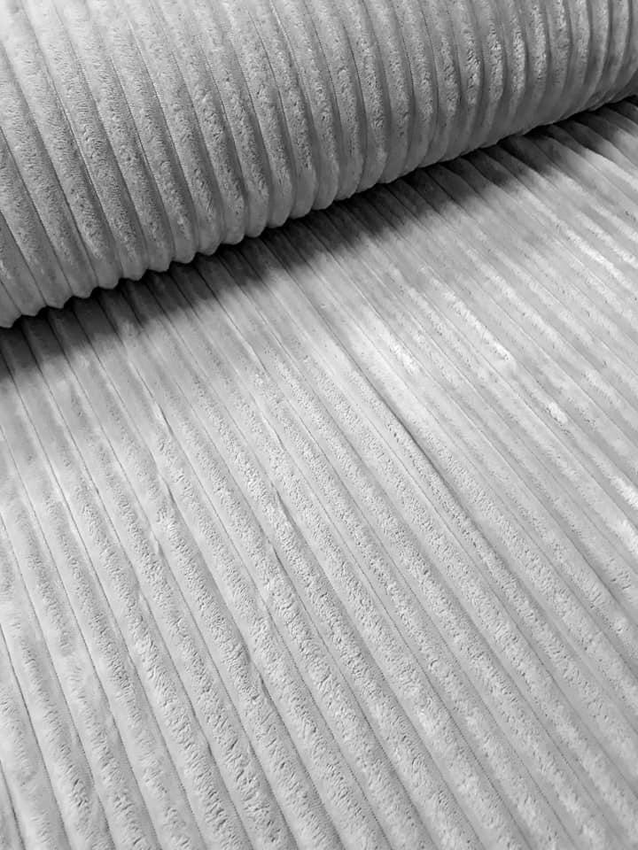 "Плюш ""Светло-серый Stripes"", ширина 160 см"
