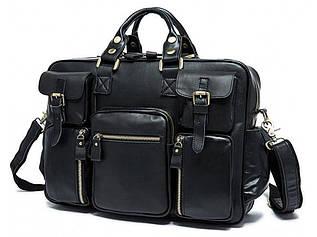 Дорожная сумка кожаная TB TB1-A8207 черная