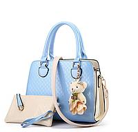 Удобная качественная женская сумка Eva   Голубой