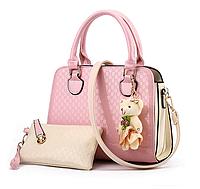 Удобная качественная женская сумка Eva   Розовый