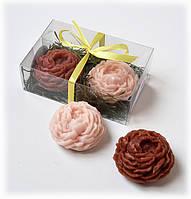 Подарок к Новому году набор натурального ЦВЕТОЧНОГО мыла , фото 1